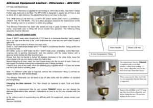 thumbnail of Filter Valve AFV-1002 Instructions