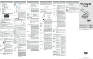 thumbnail of Viscomat 70 Manual
