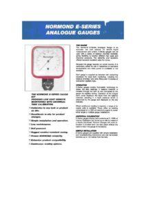 thumbnail of E series gauge