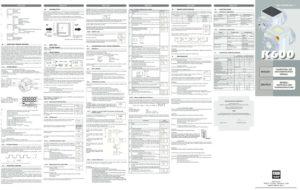 thumbnail of K600-3_Instruction_Manual
