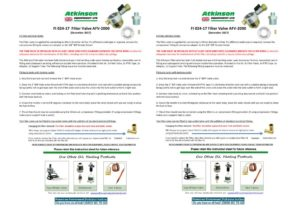 thumbnail of FI 024-17 – AFV2000 Filtervalve Fitting Instructions